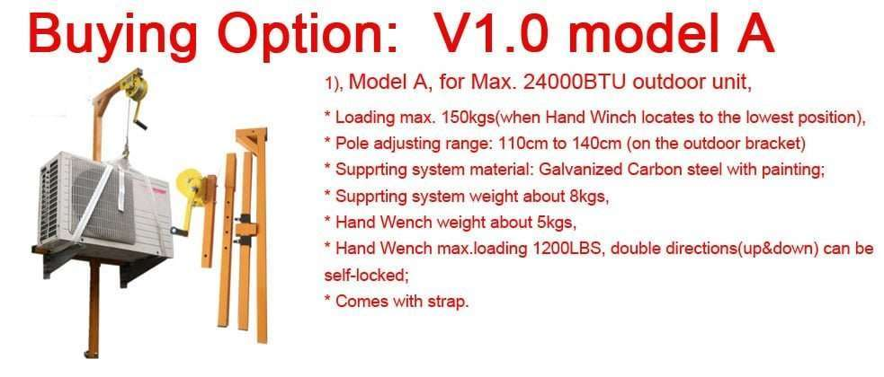 v1.0 model A lifter tool for air conditioner installation