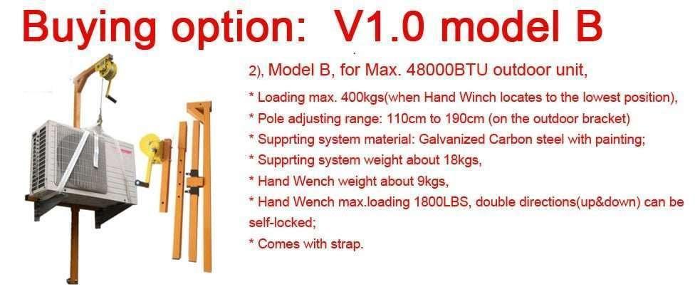 v1.0 model B lifter tool for air conditioner installation