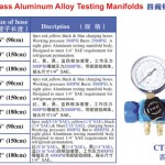 4-valve sight glass aluminium alloy testing manifolds