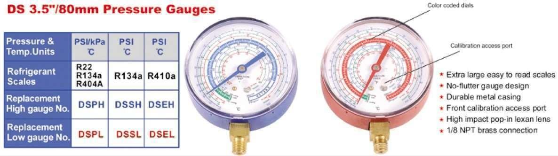 80mm pressure gauge