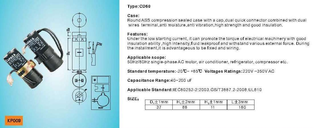 Air Conditioner Capacitor manufacturer-supplier China