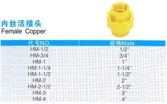 Brass Female To Copper Connector