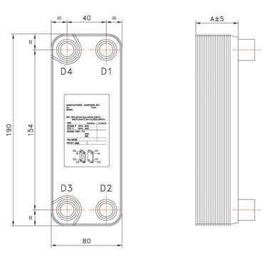 BPHE B3-015 Brazed Plate Heat Exchanger