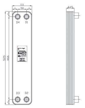 BPHE B3-052 Brazed plate heat exchanger