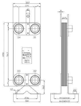 Brazed Plate Heat Exchanger 4a