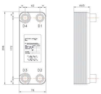 BPHE B3-014 brazed plate heat exchanger