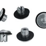 Casting pins for radius splitters