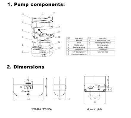 Condensate Drain Pump Type B1