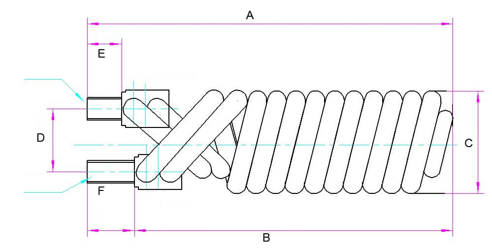 DRAWING FOR Finned Tube Coil Immersion Heat Exchanger