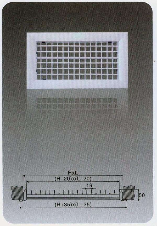 Double Deflection Supply Air Grille Manufacturer Supplier