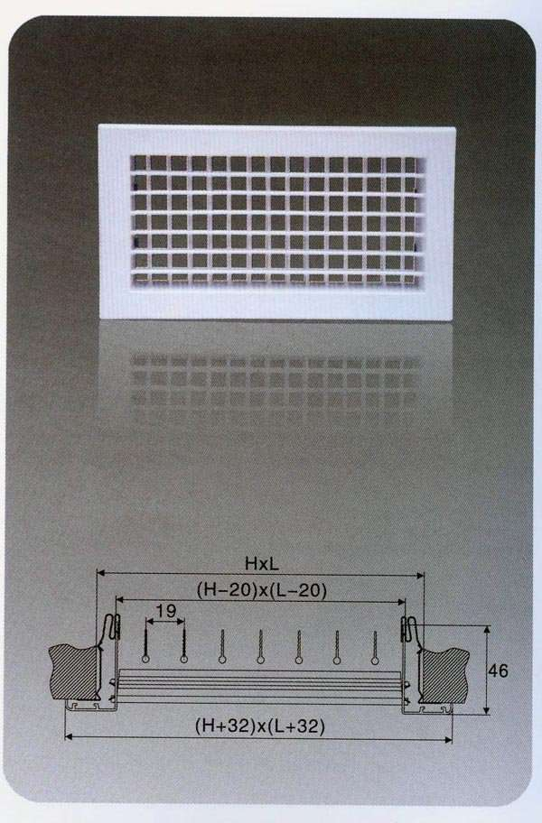 Double Deflection Supply Air Grille