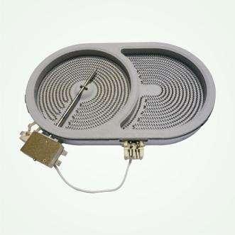 Dual-Circuit(asymmetric) radiant plate