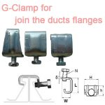Clamp for Ventilation Duct,G clamp for join vent duct flanges