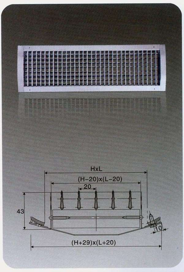 Grille for spiral air duct manufacturer supplier china