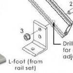 Solar Mount Rail L feet