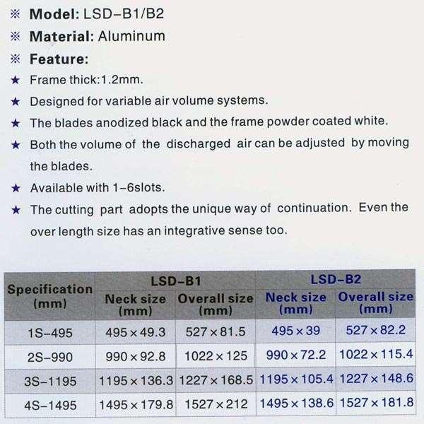 Linear Slot Air Diffuser