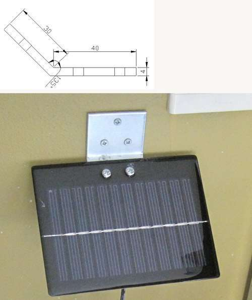 Small Solar PV Panel Mount