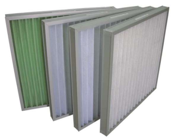 Panel Air Prefilter With Metal Frame