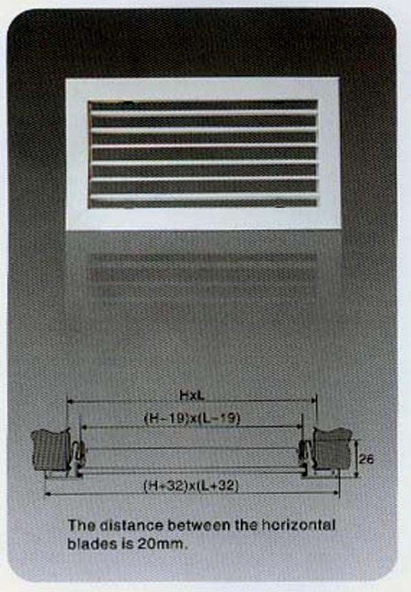 Single Deflection Supply Air Grilles