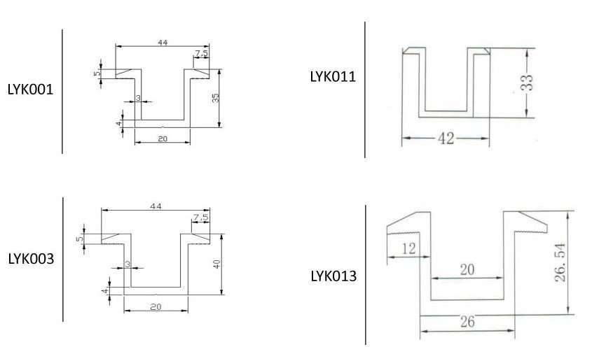 Solar PV Module Middle Clamp size