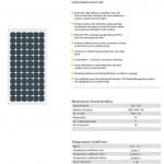 Solar Panel 165W MonoCrystalline