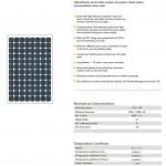 Solar Panel 190W MonoCrystalline