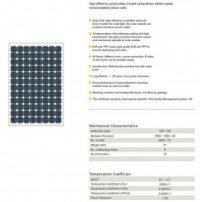 Solar Panel 210W MonoCrystalline