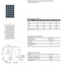 Solar Panel 55W MonoCrystalline