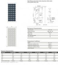 Solar Panel 65W MonoCrystalline