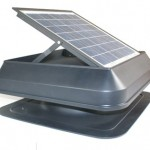 Solar-Powered Roof-Mount Exhaust Fan Square type