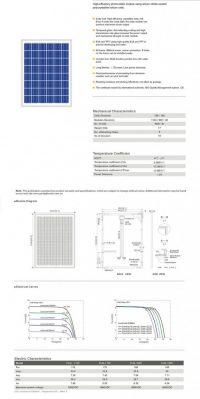 Solar Panel 185W polycrystalline