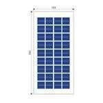 Solar panel 5W poly