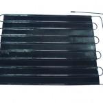 Tube on plate evaporator