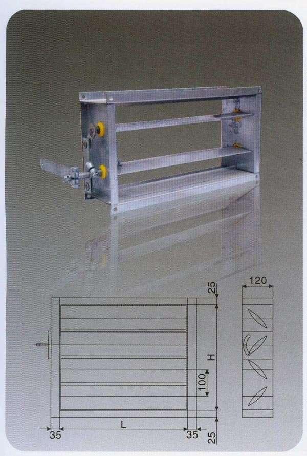Volume Control Damper : Smartclima steel sheet volume control damper