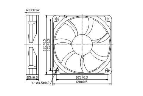 air conditioner parts water cooling fan
