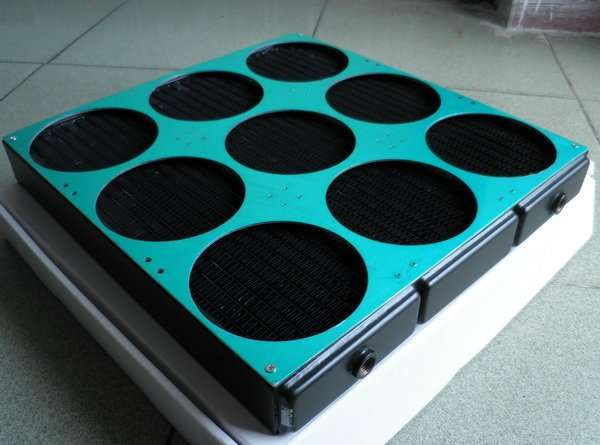 Water Cooling Radiator for 9 fans
