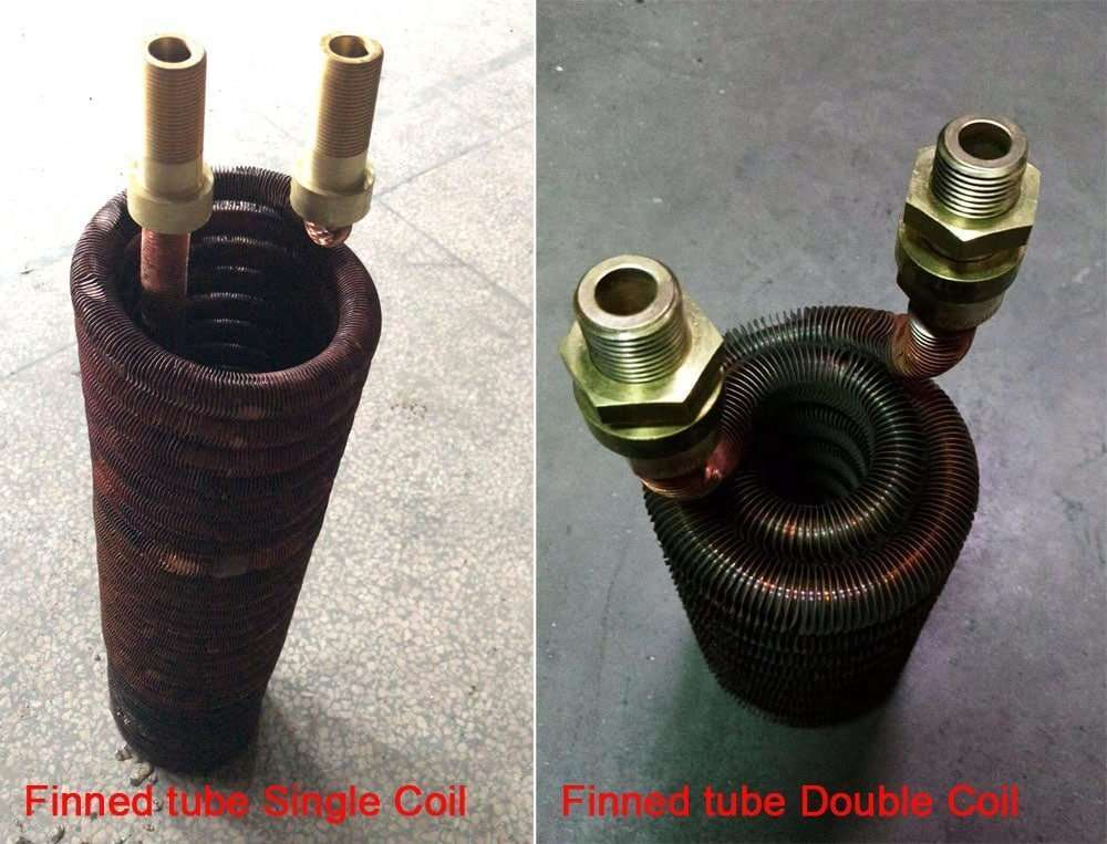 finned tube single and double coil