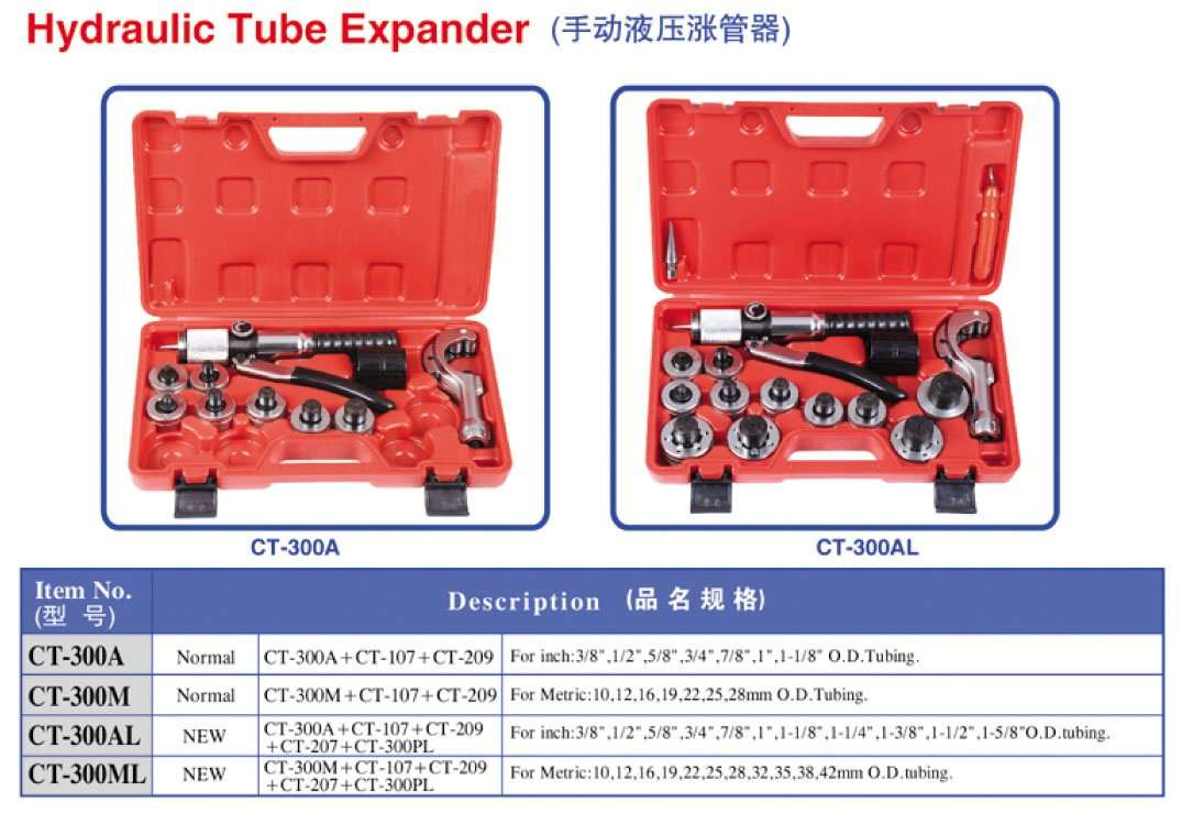 hydraulic tube expander by hand