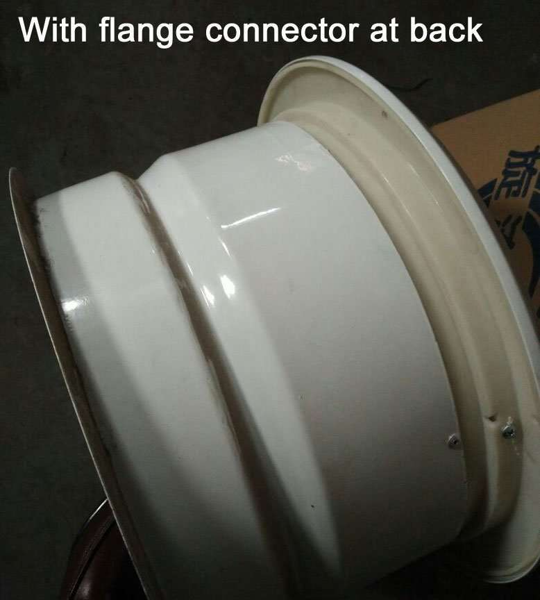 jet diffuser with flange connector