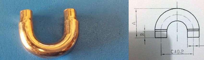 reducing copper u bend