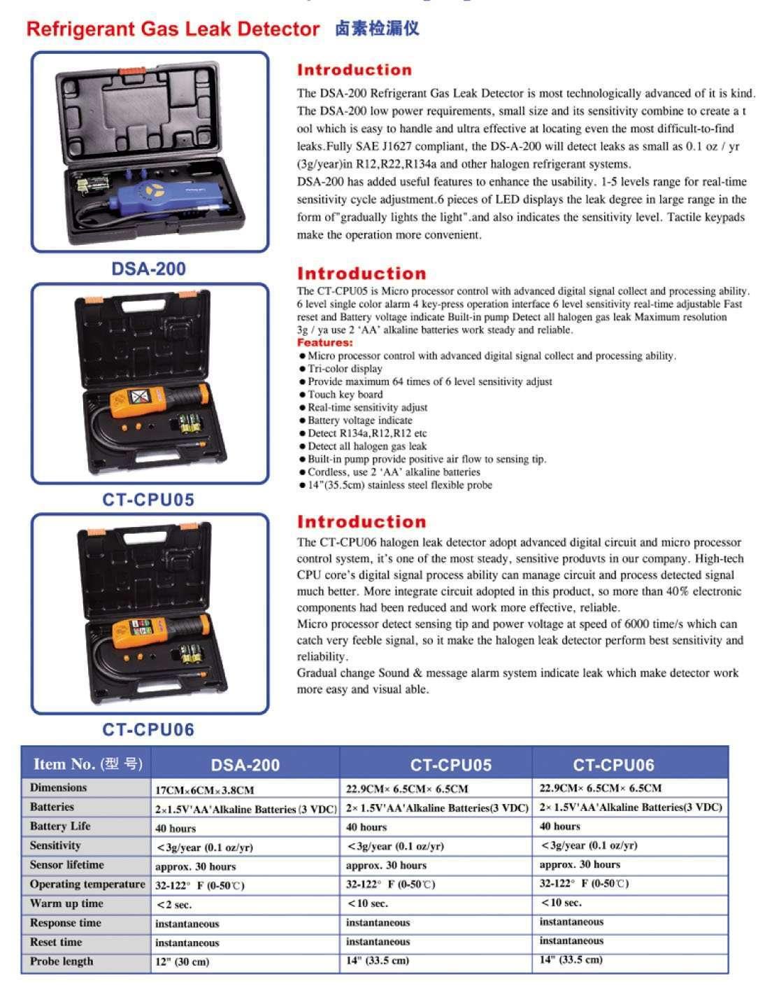 refrigeratant gas leak detector