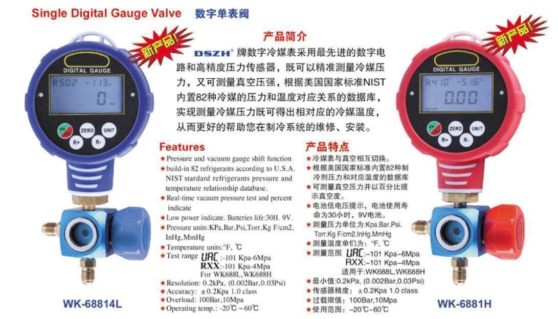 single digital gauge valve