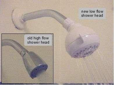 Low flow shower head