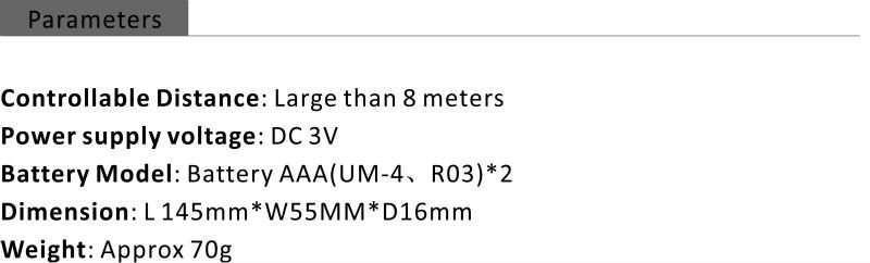 KT-E03 parameter