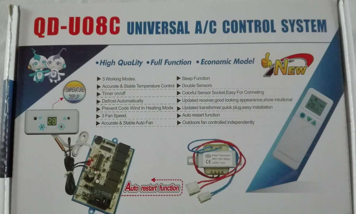 Universal Air conditioner control system QD-U08C function