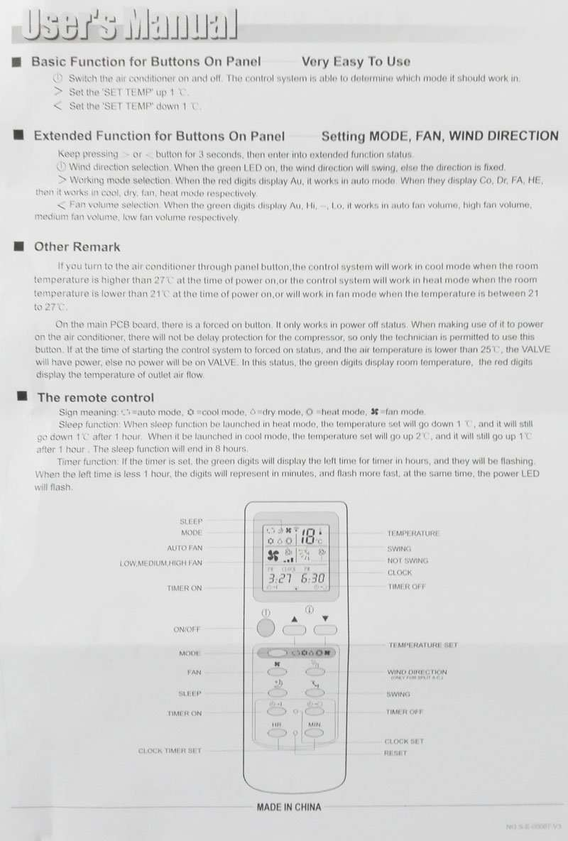 Universal Air conditioner control system QD-U11A 22