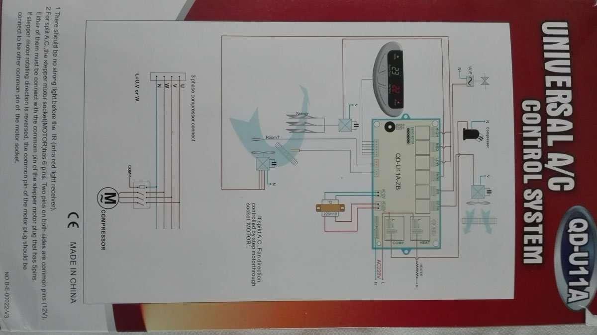 Universal Air conditioner control system QD-U11A 8