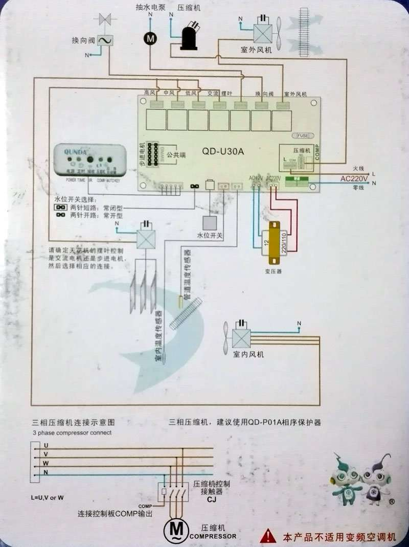 Universal Air Conditioner Control System Manufacturer Supplier China Goldstar Wiring Diagram Buying Guide To Qd U30a