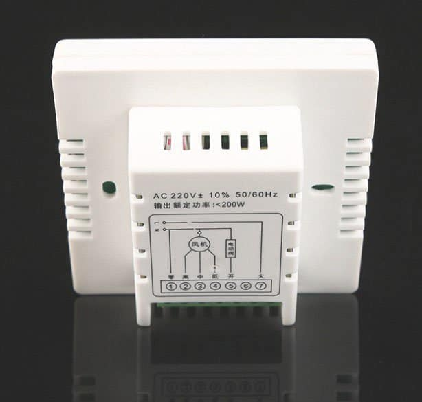 Room thermostat DRT-8D wsk-8d back view