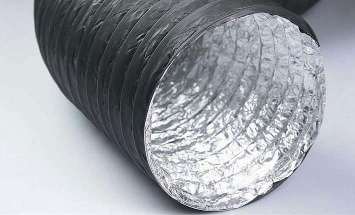 Aluminium and PVC Compound flexible air ducts